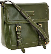 Tignanello As Is Distressed Vintage Leather Crossbody Bag
