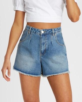 Tasha Pin-Tuck Shorts