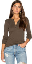 ATM Anthony Thomas Melillo Slub Jersey Blast Henley Top