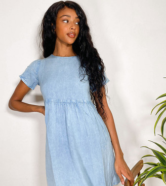 Wednesday's Girl mini smock dress in denim