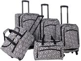 American Flyer Brick Wall 5-Piece Spinner Luggage Set