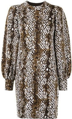 Ulla Johnson Lina python-print knit dress