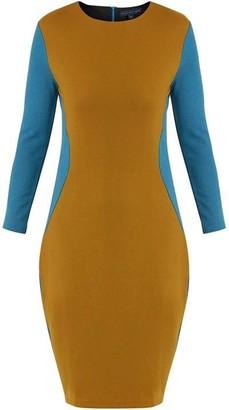 Helen McAlinden Trudy Teal/Mustard Dress