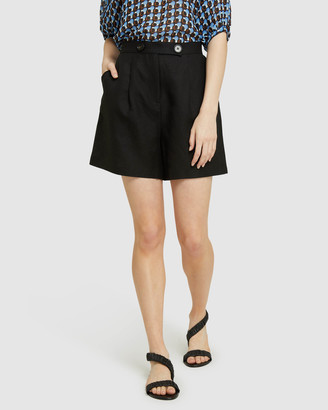 Oxford Women's High-Waisted - Sasha Linen Blend Shorts - Size One Size, 8 at The Iconic