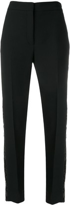 Victoria Victoria Beckham Sequined Side Stripe Trousers