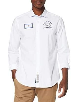 La Martina Men's Man L/s Shirt Oxford Stream Ox Casual