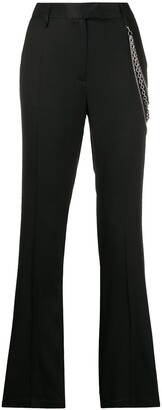 Just Cavalli Chain-Embellished Straight Trousers