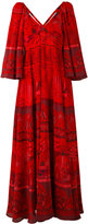 Valentino Landscape Border dress - women - Silk - 42