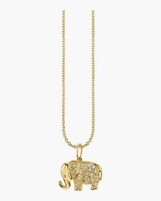 Sydney Evan Small Elephant Charm Necklace