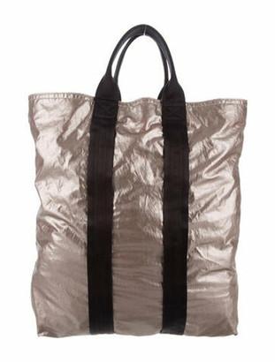 Lanvin Metallic Nylon Tote Metallic
