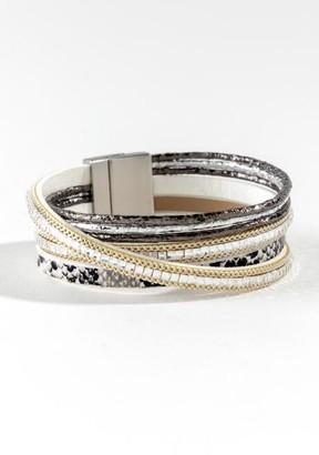 francesca's Millie Snake Wrap Bracelet - Silver