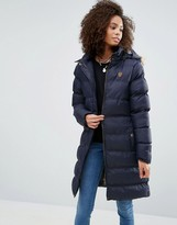 Brave Soul Padded Coat With Fur Trim Hood