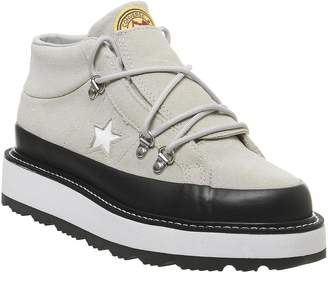 Converse One Star Fleece Lined Boots Papyrus Black White