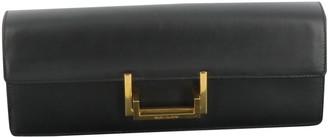Saint Laurent Lulu Black Leather Clutch bags