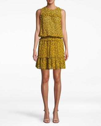 Nicole Miller Ditsy Leopard Blouson Dress