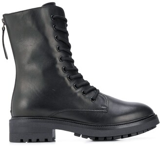 P.A.R.O.S.H. Lace-Up Zipped Ankle Boots