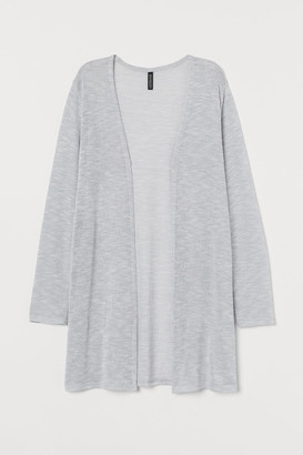 H&M Loose-knit Cardigan - Gray
