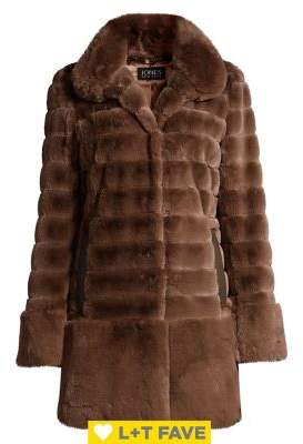 Jones New York Faux-Fur Quilted Coat