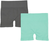 Mint & Charcoal Seamless High-Waist Shorts Set