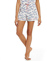 Sleep Sense Straw Hat-Print Sleep Shorts