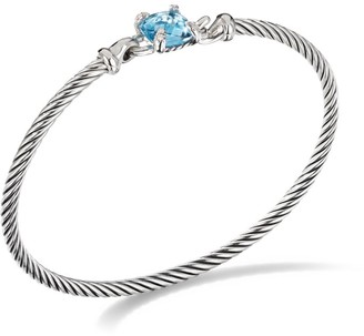 David Yurman Chatelaine Bracelet in Sterling Silver With Diamonds & Gemstone