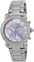 JBW Victory Pink Mother of Pearl Chronograph Dial Diamond Ladies Watch