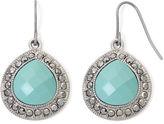 JCPenney MONET JEWELRY Monet Aqua and Marcasite Teardrop Earrings