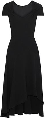 Elie Tahari Phoenix Asymmetric Crepe Midi Dress