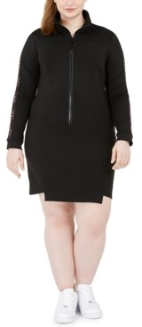 Lala Anthony Trendy Plus Size Bodycon Track Dress