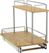 Household Essentials Glidez 11 Bamboo Two-Tier Sliding Pantry Organizer