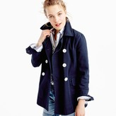J.Crew Petite peacoat in heavyweight cotton twill
