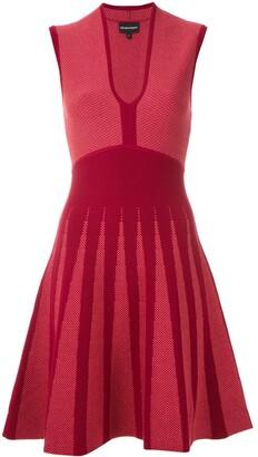 Emporio Armani jacquard A-line dress