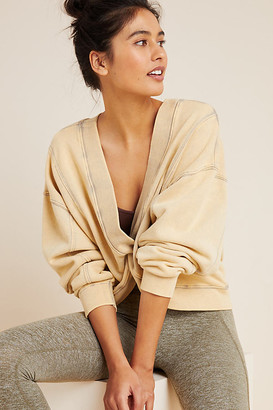 Free People Movement Go For Gold Reversible Sweatshirt By Free People Movement in Beige Size M