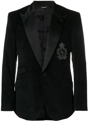 Dolce & Gabbana Logo Patch Blazer