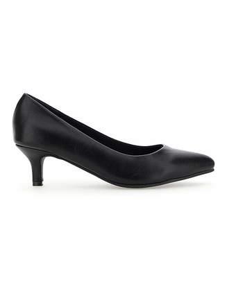 Jd Williams Flexi Sole Kitten Heel Shoes EEE Fit