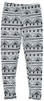 Expert Design Girl's Gorgeous House Pattern Navajo Print Leggings - S/M