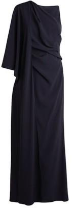 Paule Ka One-Shoulder Drape Gown