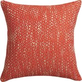 "CB2 Diamond Weave Red-Orange 18"" Pillow"