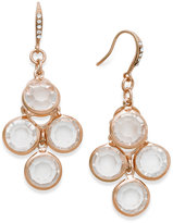 Charter Club Rose Gold-Tone Crystal Stone Chandelier Earrings