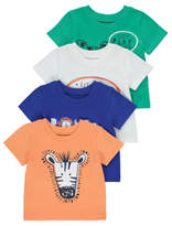 George 4 Pack Jungle Animal T-Shirts