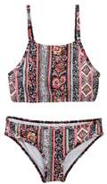 Billabong Rosa Moon Crop Tank Swim Set (Big Girls)