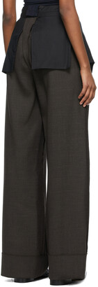MM6 MAISON MARGIELA Brown Wide-Leg Inside-Out Trousers