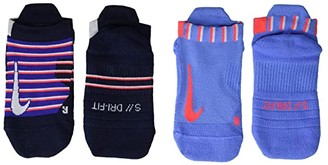 Nike NikeCourt Multiplier Max No Show Socks 2-Pair Pack (Multicolor) Crew Cut Socks Shoes