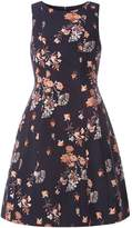 Dorothy Perkins Navy Floral Fit And Flare Dress