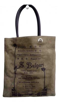 Bvlgari Grey Suede Handbags