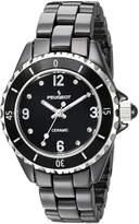 Peugeot Black Ceramic Wrist Watch with Sport Bezel Swarovski & Crystal Markers
