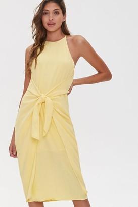 Forever 21 Tie-Front Plunge-Back Dress