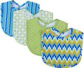 Trend Lab Blue & Green Levi Bouquet Bib - Set of Four