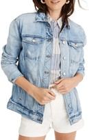 Madewell Distressed Oversize Jean Jacket