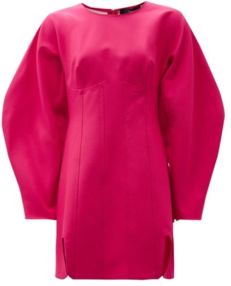 Ellery Whitney Boned Twill Mini Dress - Fuchsia